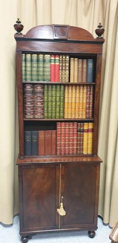 Regency Open Bookcase on Cupboard (1 of 2)