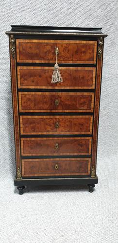 Small French Semanier Chest of Drawers c.1880 (1 of 11)