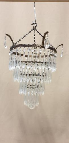 Four Tier Cut Crystal Light Fitting (1 of 4)