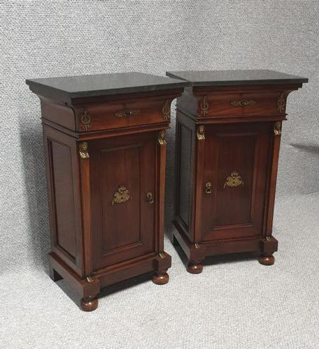 Superb Pair Empire Mahogany Cabinets (1 of 15)