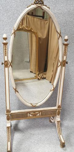 Regency Painted Cheval Mirror (1 of 10)