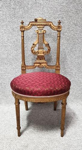 Lovely French Gilt Boudoir Chair (1 of 10)