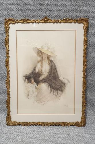 Coloured Lithograph Mary Louise Gow (1 of 9)