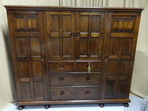 Oak Cottage Compactum Wardrobe of Small Proportions (1 of 8)