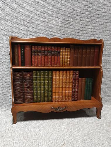 Pretty French Walnut Open Bookcase c.1920 (1 of 10)
