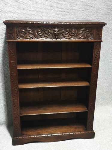 Solid Oak Adjustable Open Bookcase (1 of 7)
