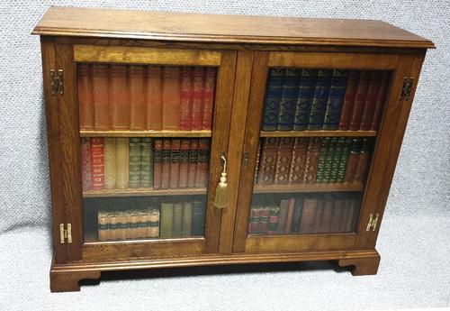 Solid Oak Low Adjustable Bookcase (1 of 7)