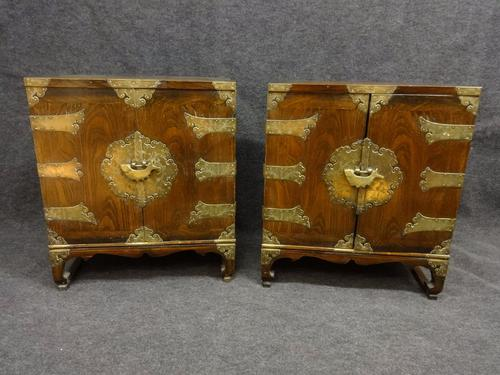 Chinese Elm Table Cabinets c.1920 (1 of 1)