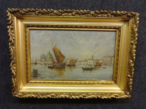 Oil Painting of 'Venice' by M Gore 1895 (1 of 1)