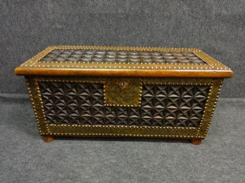 Carved Camphor Wood Coffer c.1890 (1 of 1)