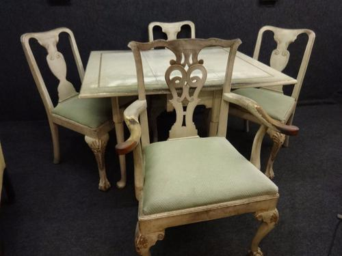 Painted Table and 4 Chairs c.1910 (1 of 1)