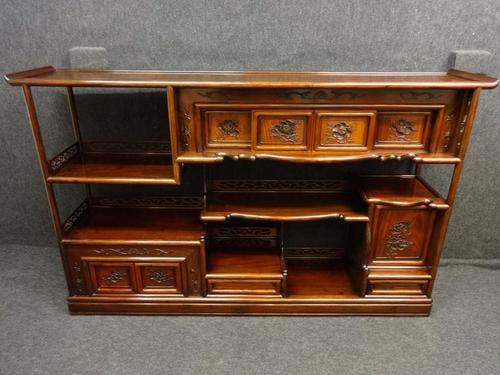 Stunning Chinese Rosewood Side Cabinet / Display Cabinet c.1910 (1 of 1)