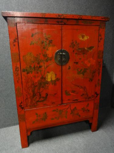 Chinese Chinoiserie Wardrobe c.1920 (1 of 1)