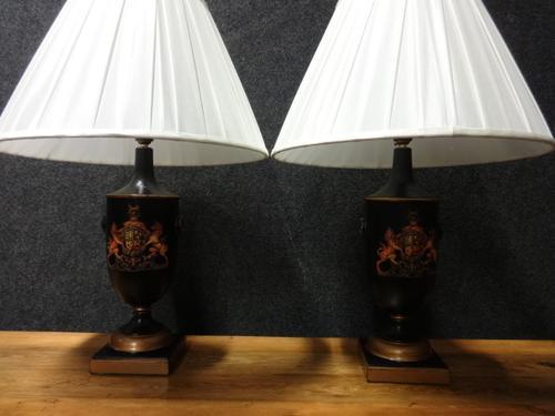 Pair of Heraldic Lamp Bases c.1920 (1 of 1)