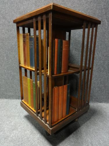 Mahogany and Burr walnut Revolving Bookcase (1 of 1)