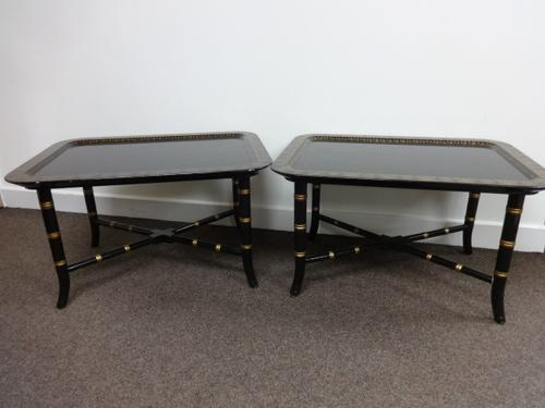 Pair Regency Laquered Coffee, Sofa Tables (1 of 1)