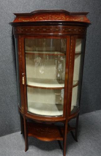 Outstanding Inlaid Display Cabinet c.1900 (1 of 1)