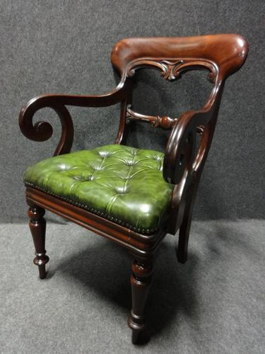 William 4th  Mahogany Desk Chair, Library Chair (1 of 1)