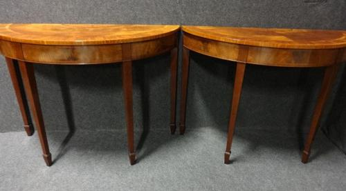 Pair of Inlaid Mahogany Console Tables c.1920 (1 of 1)