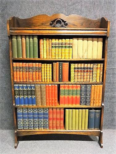 Oak Waterfall Open Bookcase (1 of 1)