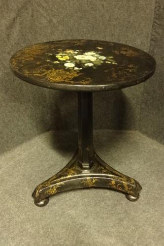 Victorian Papier Mache Pedestal Table c.1850 (1 of 5)