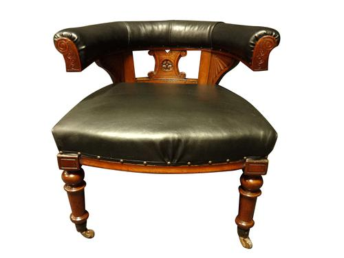 Good Mahogany Desk Chair c.1880 (1 of 6)
