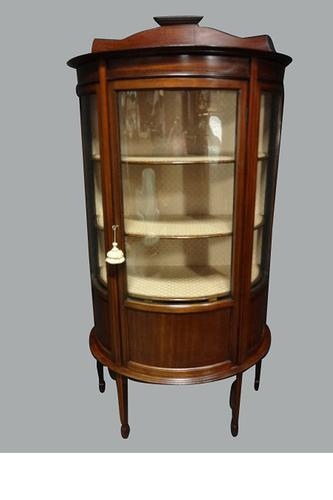 Very Good Mahogany Inlaid Display Cabinet Vitrine C.1910 (1 of 4)