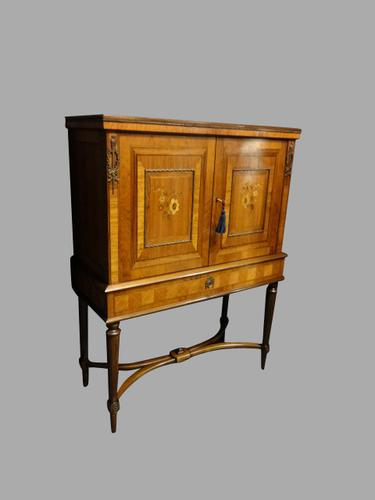 Walnut & Kingwood Marquetry Cupboard on Stand c.1920 (1 of 1)