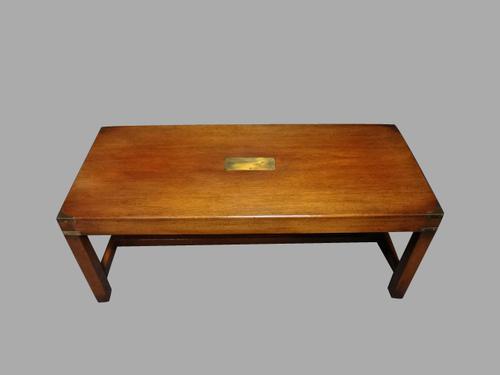 Good Mahogany Campaign Coffee Table c.1930 (1 of 1)