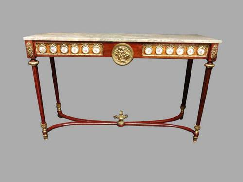 Very Good Mahogany Console Table with Marble Top c.1920 (1 of 1)