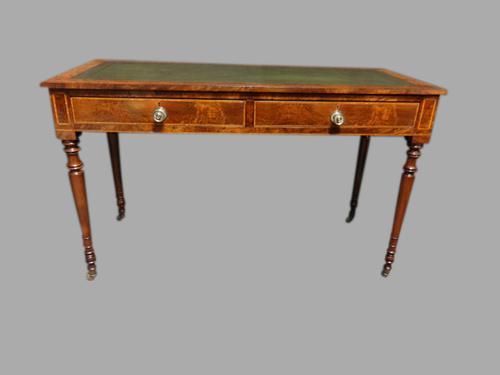 Good Quality Burr Walnut Freestanding Desk c.1850 (1 of 1)