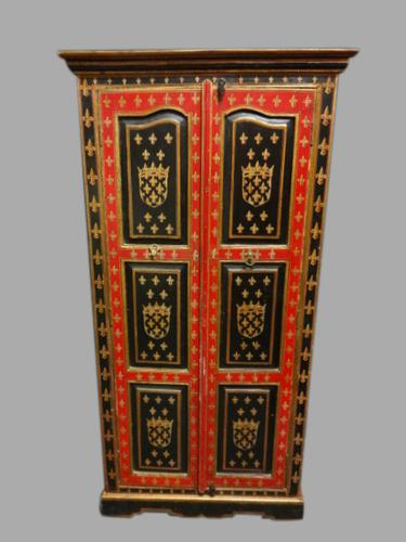 Magnificent Painted Hall Wardrobe c.1900 (1 of 1)