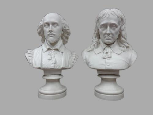 Copeland Busts 'Shakespeare' and 'Milton' (1 of 1)