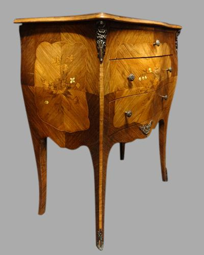Beautiful French Bombe Shaped Commode Chest of Drawers (1 of 8)