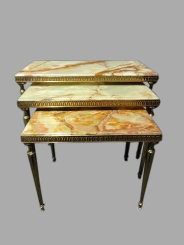 Good Quality Onyx Nest of Three Tables c.1920 (1 of 1)