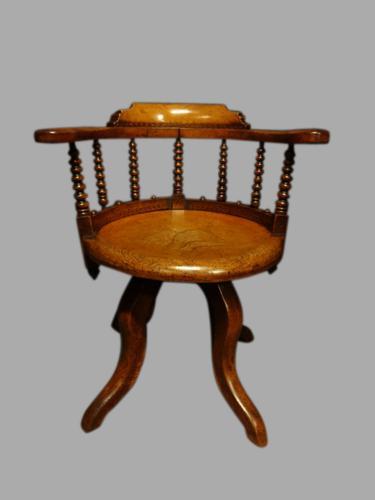 Very Good Elm Office Swivel Chair (1 of 1)