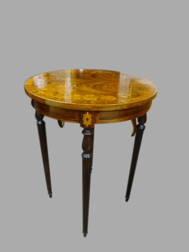 Stunning Rosewood Inlaid Occasional Table (1 of 1)