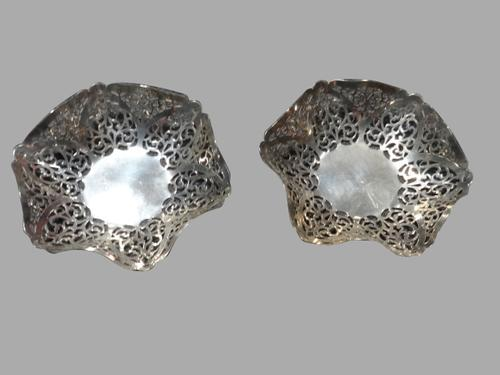 Pair of Silver Pierced Bowls (1 of 1)