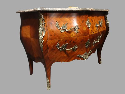 Outstanding Marquetry Bombe Shaped Commode Chest of Drawers (1 of 1)