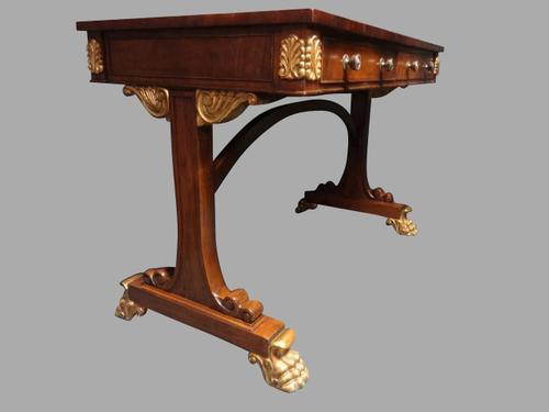 Good Mahogany Empire Mahogany Desk / Table C.1920 (1 of 1)