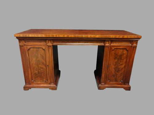 Regency Inlaid Pedestal Sideboard (1 of 1)