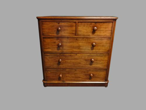 Victorian Mahogany Five Drawer Chest of Drawers (1 of 1)