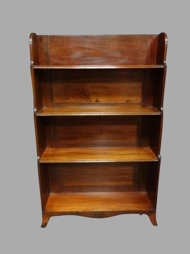 Regency Open Waterfall Mahogany Bookcase (1 of 1)
