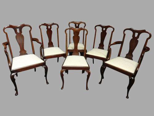 Outstanding Set of Six Walnut Dining Chairs c.1910 (1 of 1)