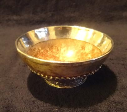Beautiful 19th Century Indian Silver & Marble Bowl (1 of 1)