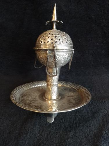 Exquisite 19th Century Indian Silver Incense Burner (1 of 1)