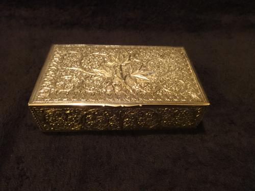 Exquisite 19th Century Indian Silver Hinged Box (1 of 1)