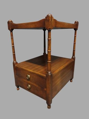 Mahogany Two Drawer Lamp Table c.1920 (1 of 1)