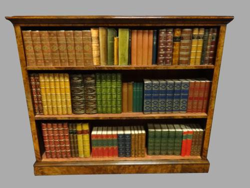 Superb Burr Walnut Open Bookcase c.1880 (1 of 1)
