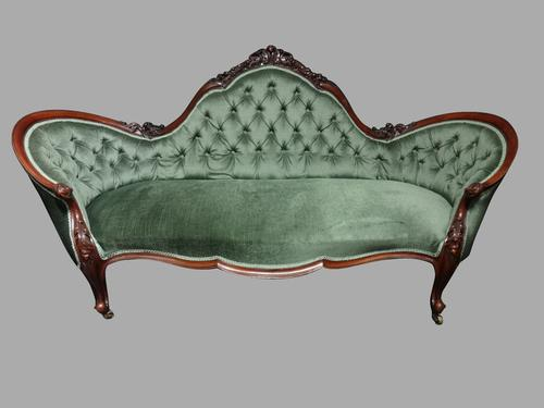 Very Good Mahogany Double Ended Chaise Settee (1 of 1)